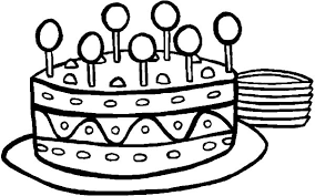 Sweet Lollipop On Birthday Cake Coloring Pages Netart Birthday Cake Coloring Pages