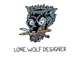 lone wolf designer by chus dribbble