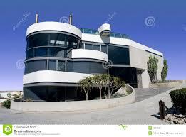 futuristic round white house stock image image 1531791