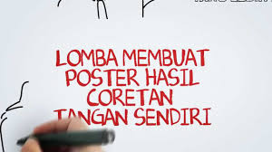 cara membuat poster manual poster competition lomba poster sgts 7 2013 youtube