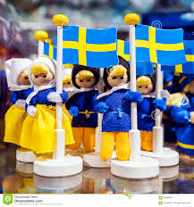 souvenirs from sweden with swedish flag stock photo image 64988361