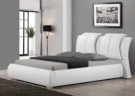 Black Leather Platform Bed Modern White Leather Bed