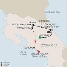 Map Of San Jose Costa Rica by Manuel Antonio National Park Tour Globus Travel