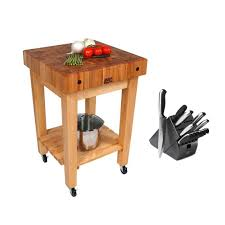 john boos maple butcher block 24 x 24 kitchen cart gb c and