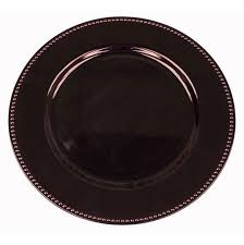 plates for wedding 6 pack 13 eggplant beaded acrylic charger plates wedding