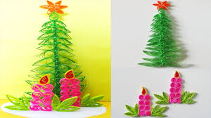 paper quilling how to make a beautiful christmas tree greeting