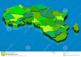 World Map Of Africa by Political Map Of Africa 3d Stock Photo Image 27217930