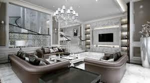 Luxurious Big Sofas Design In Modern Stylish Living Room Interior - Stylish living room decor
