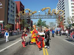 Chinatown Los Angeles Map by Golden Dragon Parade