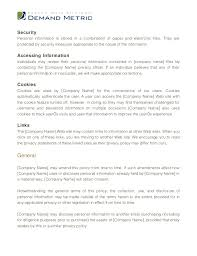 standard privacy policy template standard privacy policy template