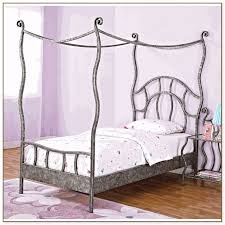 wood canopy bed frame queen