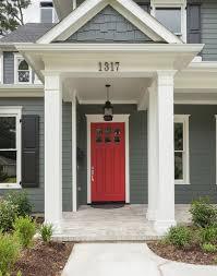 front door ideas interesting gray house red front door with best 25 red front doors