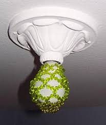 Light Bulb Beaded Cover With Decorative Ceiling Cover Decorating
