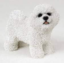 bichon frise breed standard bichon frise hand painted collectible dog figurine statue