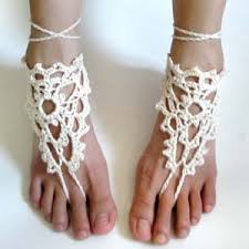 barefoot sandals crochet spot archive crochet pattern lacy triangle