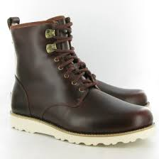 ugg mens boots sale uk ugg leather hannen lace calf boots in cordovan brown