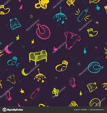 newborn baby necessities newborn baby necessities seamless pattern in colorful