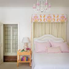 Girls Bedding And Curtains by Orange And Pink Girls Bedroom With Tassel Bed Valance And Orange