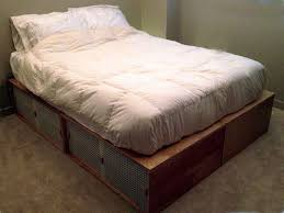 Make Platform Bed Frame Storage by 109 Best Platform Bed Plans Images On Pinterest Bed Plans