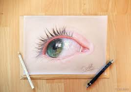 60 beautiful and realistic pencil drawings of eyes 1 human eye