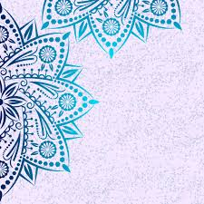 mandala background pattern with vintage round ornament