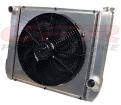 electric radiator fans and shrouds ultracool aluminum radiator kit chevy street strip 24 x 19
