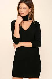 chic black dress sweater dress long sleeve dress 46 00