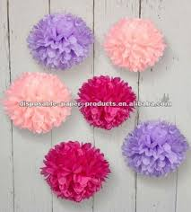 hot pink tissue paper 20 inch tissue paper poms flowers lavender light pink and