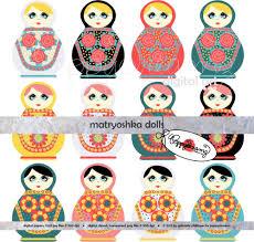 russian dolls clipart 61