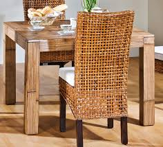 Wicker Dining Room Chairs Indoor Dining Room Rattan Dining Chairs With Wooden Dining Table For