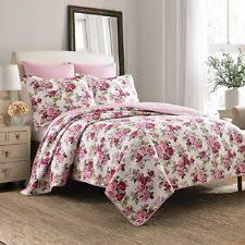 Shams Bedding King Size Quilt Shams Set 3 Piece Reversible Bedding Pink Red