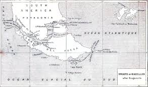 Magellan Route Map by The Project Gutenberg E Book Of The Great Navigators Of The