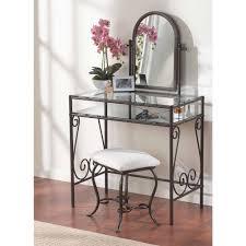 linon home decor linon home decor clarisse 2 piece dark metal vanity set 58950mtl 01