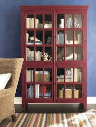 Ikea Red Cabinet Bookcase Target Red Bookcase With Glass Doors Red Display