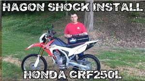 hagon rear shock install honda crf250l dual sport youtube