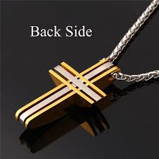 gold plated cross necklace images Gold plated jesus cross pendant necklace pluto99 jpg