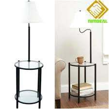 glass end table with lamp bedroom floor lamps with tables attached