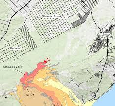 Hawaii Island Map Video Tracking Kahauale U0027a 2 Lava Flow On Hawaii Island