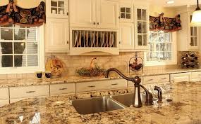 brown marble countertop island tile backsplash country kitchen