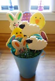 best easter cookie bouquets easter egg bunny cookies