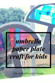 umbrella paper plate sun catcher craft for kids a z play at home