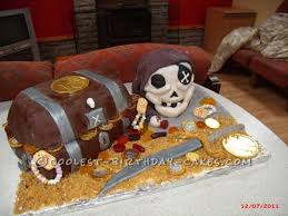 pirate skull cake ideas 95461 coolest pirate treasure ches