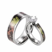 camo wedding rings his and hers camo his hers wedding ring sets camoring