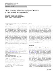 Qtl Mapping Effects Of Missing Marker And Segregation Distortion On Qtl
