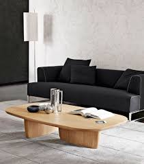 contemporary coffee table oak oval by edward barber u0026 jay