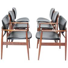 set of six finn juhl dining chairs for baker at 1stdibs