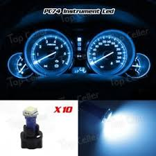 dashboard led light bulbs 10 t5 pc74 twist socket instrument cluster ice blue dashboard led