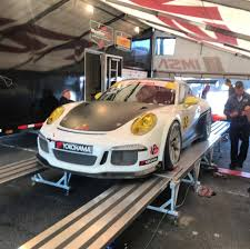gold porsche gt3 mark nelson wins in imsa cup driving for kelly moss road and race