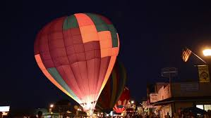 Panguitch utah jun 2014 dark night hot air balloon burn glow