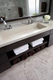 Double Trough Sink Bathroom Vanity Pinebrook Residence Contemporary Bathroom Cincinnati Ryan